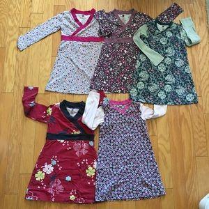 Lot of 5! Tea Collection Long Sleeve Dresses Sz 6